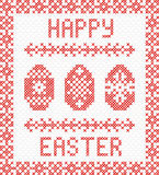 Happy Easter embroidery cross-stitch. Stock Image