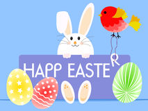 Happy Easter in english Royalty Free Stock Images