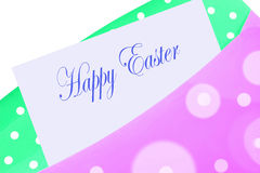 Happy easter envelope Stock Images