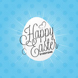 Happy easter everyone lettering Stock Photos