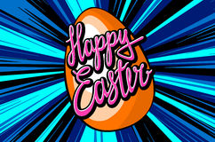 Happy easter everyone lettering for your design Royalty Free Stock Photography