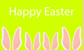 Happy easter family bunnies with long ears. Vector art illustration vector illustration