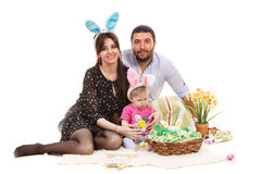 Happy Easter family Royalty Free Stock Photo