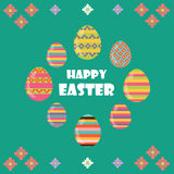 Happy Easter. Flat and cartoon style. Vector illustration. Deisgn element Royalty Free Stock Image