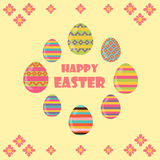 Happy Easter. Flat and cartoon style. Vector illustration. Deisgn element Stock Photography
