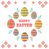 Happy Easter. Flat and cartoon style. Vector illustration.Deisgn. Element Stock Images