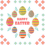 Happy Easter. Flat and cartoon style. Vector illustration. Deisgn element Royalty Free Stock Photo