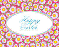 Happy Easter Floral Card Template Stock Photos