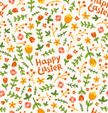 Happy Easter flower pattern Royalty Free Stock Photography