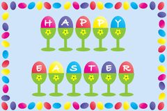 Happy Easter Frame Design Royalty Free Stock Images