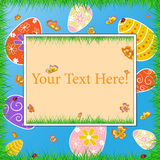 Happy Easter frame Royalty Free Stock Image