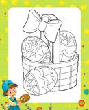 The happy easter frame - illustration for the children Royalty Free Stock Photo