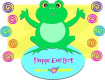Happy Easter Frog Stock Images
