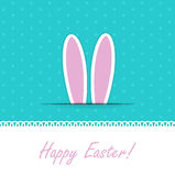 Happy Easter Funny Background with Rabbit Vector Illustration Royalty Free Stock Photography