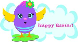 Happy Easter Funny Egg Stock Image