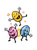 Happy Easter Funny Eggs Royalty Free Stock Photo