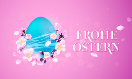 Happy Easter German Frohe Oster Paschal egg vector greeting card Stock Image