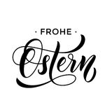 Happy Easter German Frohe Oster Paschal text greeting card Royalty Free Stock Photos
