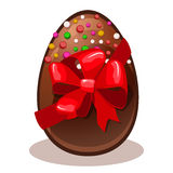 Happy Easter gift- chocolate egg Stock Image