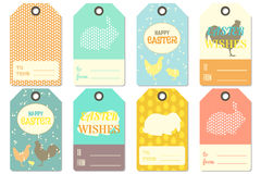 Happy Easter Gift Tags. Happy Easter Gift Tag Templates. Vector Illustration Stock Photography