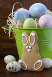 Happy Easter gingerbread cookie bunnies Royalty Free Stock Image