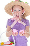 Happy Easter girl Stock Images