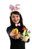 Happy easter girl Royalty Free Stock Photography