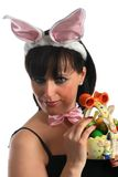Happy easter girl Stock Photography