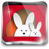 Happy Easter Glossy Application Button Royalty Free Stock Photos