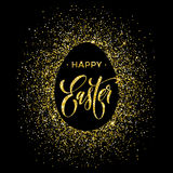 Happy Easter gold glitter egg vector premium paschal greeting card Stock Photo
