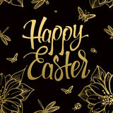 Happy Easter gold sign, symbol, logo Stock Photography