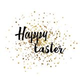 Happy Easter with gold sparkles and hand written text. Vector. Happy Easter with gold sparkles and hand written text. Vector royalty free illustration