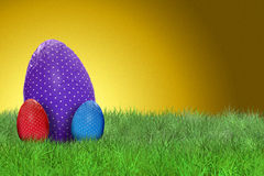 Happy Easter and golden background. Happy Easter - Easter eggs and golden background Royalty Free Stock Photo