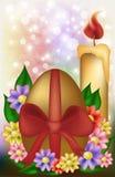 Happy Easter golden egg background, vector. Illustration Royalty Free Stock Photo