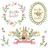 Happy easter graphic elements,vector set Stock Images