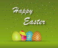 Happy Easter green Background Royalty Free Stock Images