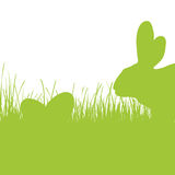 Happy Easter - green silhouette Royalty Free Stock Image