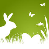 Happy Easter - green silhouette Stock Image