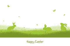 Happy Easter - green silhouette Stock Photo