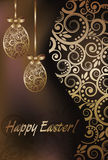 Happy Easter greeting banner Stock Photography