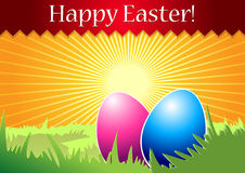 Happy Easter greeting card. Colorful Easter illustration as greeting card stock illustration