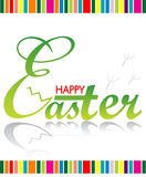 Happy Easter greeting card. Illustration of Easter holiday on white background Royalty Free Stock Images