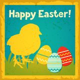 Happy Easter greeting card background Royalty Free Stock Image