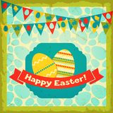 Happy Easter greeting card background Stock Photo