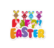 Happy Easter greeting card background Royalty Free Stock Photos