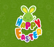 Happy Easter greeting card background Stock Image