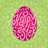 Happy Easter greeting card background with calligraphic text retro colors Royalty Free Stock Photos
