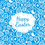 Happy Easter greeting card background color of the eggs seamless pattern Royalty Free Stock Images