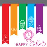Happy Easter card bookmarks. Vector elements Royalty Free Stock Image