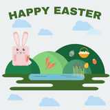 Happy Easter Greeting Card Stock Image